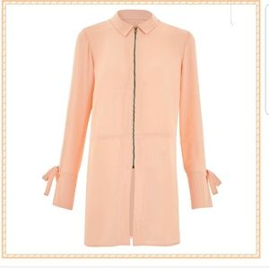 Capsule By Simply Be Blush Longline Zip Tunic